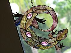 stained glass lizards by earthmother45