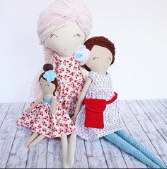 Eloise is about 58 cms (23 in) tall. Her body is double lined and double stitched for durability. Her face is hand embroidered and therefore uniquely one of a kind. Her arms are button jointed. She comes with removable dress, bloomers, and cross body bag.  Eloise is suggested for gentle play by children over 3. Adult supervision is recommended as she has small parts.  Eloise is an original design from A Few Lovely Things. All dolls are made to the highest standards.  Copyright A Few Lovely…