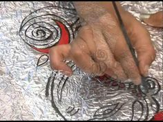 Aluminum Foil Embossing Art - YouTube