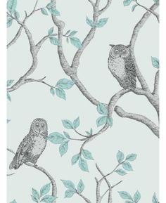 Brewster Home Fashions Essentials x Enchanted Forest Owl and Tree Wallpaper Roll Owl Wallpaper, Forest Wallpaper, Botanical Wallpaper, Green Wallpaper, Wallpaper Samples, Modern Wallpaper, Animal Wallpaper, Wallpaper Roll, Peel And Stick Wallpaper