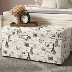 Beachcrest Home Santa Cruz Solid Wood Drawer Storage Bench & Reviews | Wayfair Wood Drawers, Storage Drawers, Storage Spaces, Bed Storage, Bench With Shoe Storage, Upholstered Storage Bench, Paris Room Decor, Decorative Pillows, Decorative Boxes