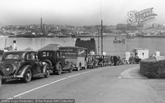 Torpoint, Queue For The Ferry from Francis Frith Plymouth England, Devon Uk, Great Photos, Family History, Cornwall, Street View, Black And White, City, Places