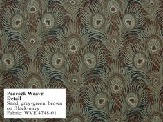 Peacock Weave Fabric -  Adapted from Arthur Silver's Peacock Feathers design of 1887
