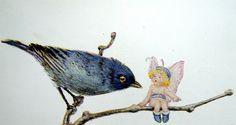 Blue bird and fairy by art.crazed, via Flickr
