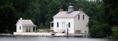 Jones Point Lighthouse from the Potomac River - It is one of the last riverine lighthouses in the country.