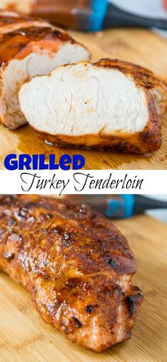 Barbecue Turkey Tenderloin - Grilled turkey tenderloin seasoned with a smoky rub and grilled to perfection. Coated in your favorite barbecue sauce for the perfect summer meal. Turkey Tenderloin Recipes, Turkey Recipes, Pork Recipes, Dinner Recipes, Turkey Tenderloin Recipe Grilled, Turkey Dishes, Dinner Ideas, Turkey Meals, Kid Recipes
