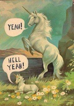 Because apparently I find unicorns saying hell yeah amusing. Illustration Arte, Illustrations, Unicorn Illustration, Unicorns, Doug Funnie, Last Unicorn, Unicorn Art, Unicorn Humor, Unicorn Fantasy