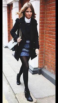 ZARA Blue Jacquard Aztec Skirt XS Extra Small Tribal Print UK 6 8 | eBay