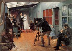 Une noce chez le photographe, Pascal Adolphe Jean Dagnan-Bouveret (1852-1929), décembre 1878 – mars 1879, huile sur toile, 85 x 122 cm, Musée des Beaux-Arts de Lyon, © Réunion des musées nationaux