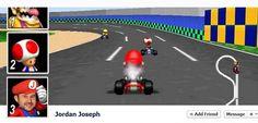Mario Kart Facebook Timeline Pic