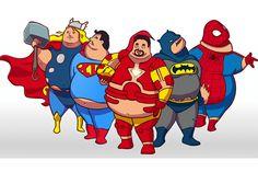Agora é a vez dos super heróis gordinhos - em site de produtos para o bem estar http://www.bluebus.com.br/agora-e-vez-dos-super-herois-gordinhos/