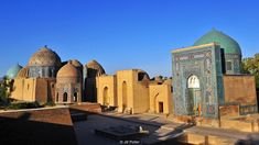 Uzbekistan, Samarkand, Tamerlane, mausoleum, Shah-i-Zinda necropolis (Credit: Credit: Jill Potter) Indian Architecture, Beautiful Architecture, Ap World History, Central Asia, Asia Travel, Wonders Of The World, Trip Planning, Places To See, Taj Mahal