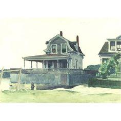 HOUSES ON THE BEACH, GLOUCESTER By Edward Hopper