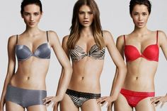 """computer generated models used to model lingerie for H&M are merged with actual """"face models"""" and then humanized in post processing"""