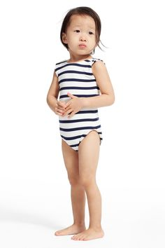 SPRING SALE! Enjoy an additional 50% off sale prices! Little Girls' Femja Stripe One Piece Swimsuit