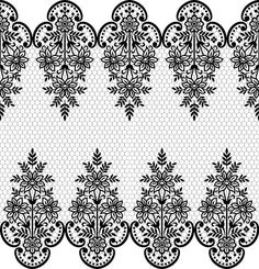 Folk Embroidery Patterns Seamless black lace borders vectors Free vector in Border Embroidery Designs, Folk Embroidery, Embroidery Patterns, Vector Pattern, Pattern Art, Paisley Background, Lace Tattoo Design, Mandala Doodle, Mehndi Art Designs