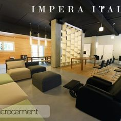Microcement wall and floor kit offered by Impera Italia for a create durable contemporary design. Micro screed or beton cire look with an Italian finish Cement, Contemporary Design, Flooring, Bathroom, Wall, Furniture, Home Decor, Washroom, Decoration Home