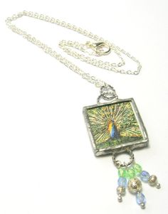 Peacock Pendant Necklace  Handmade Necklaces  by SwankyJewels