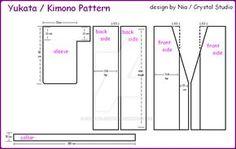 español: Patron para Yukata o Kimono completamente hecho por mi, es la primera vez que hago un patron, asi que talvez tenga errores espero les sea util ^^ ----------------------------- english: Pat...