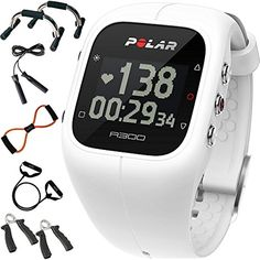 Polar A300 Fitness Tracker, Heart Rate Monitor, and Activity Monitor White   Sharper Image 7-in-1 Total Resistance Fitness Kit * To view further for this item, visit the image link. (This is an affiliate link) #MedicalSuppliesEquipment