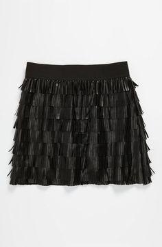Little Mass Faux Leather Skirt