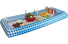 Inflatable Buffet Table...just fill with ice to keep your foods cold!!