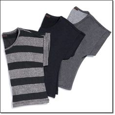 """mark. ANY DAY TEE* • 20"""" L from center back to hem (on medium) Black and Silver Stripes,  Black, Charcoal Heather"""