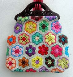 Irish crochet &: African flower BAG +VIDEO