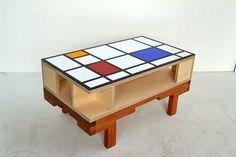 Art deco themed coffee table