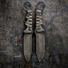 VORN MANNFALL w/ring OD / Black G10 #mannfall #od #g10 #handmade #ring #metalwork #customknives