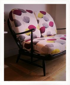 Ercol Windsor sofa with Sanderson Dandelion Clocks fabric  Lara Ford