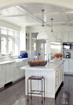 Hampton's style kitchen. Set sail and take your colour cue from ocean inspired living. Ultra polished, navy is th...