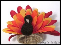 Flower Turkeys - Crafting in the Rain - Sugar Bee Crafts