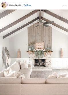 Fall Mantle Basics // Fall Mantle Inspiration – the dotted bow Magnolia Garland, Magnolia Leaves, Faux Pumpkins, White Pumpkins, Fall Wood Signs, Amber Bottles, Home Living Room, Home Decor Inspiration, Decorative Items