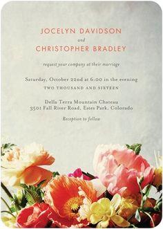 Breathtaking Blooms - Signature White Wedding Invitations - BHLDN - Blaze - Orange : Front