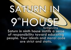 Saturn in the 9th house