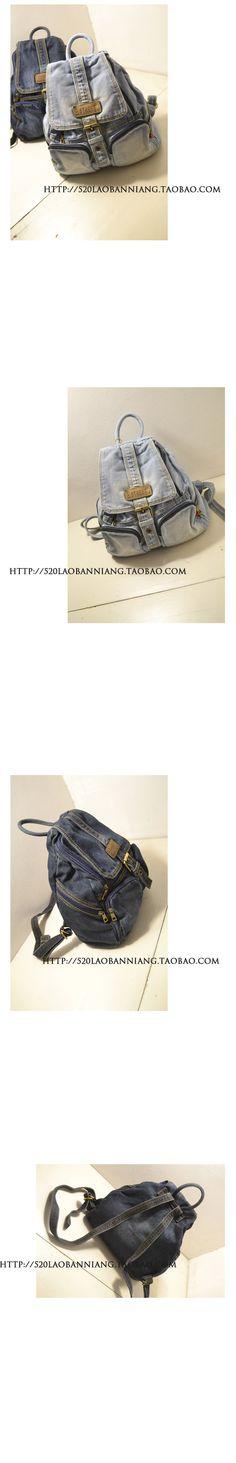 Erkekler ve kadınlar, retro 2015 yeni küçük omuz çantası sırt çantası okul çantası seyahat çantası gelgit Orijinal Japon denim - Taobao