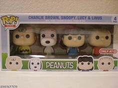 Funko Peanuts Pop Mini 4 Set Target Charlie Brown, Snoopy, Lucy, and Linus NEW