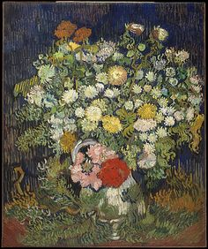 Bouquet of Flowers in a Vase, 1890. Vincent van Gogh