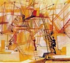 constant nieuwenhuys new babylon mobiel ladder labyrint - Google zoeken