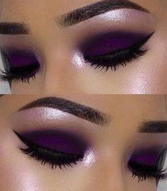 BSGSH 10 Pcs Beauty Make Up Application Tool - Eyes Eyelids Smudge Eye Shadow Eyeliner Brush Sponge Applicator Tool Makeup Brush - Prom Makeup Black Girl Gorgeous Makeup, Pretty Makeup, Love Makeup, Makeup Inspo, Makeup Inspiration, Makeup Geek, Makeup Box, Matte Makeup, Purple Makeup