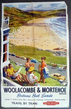 Woolacombe and Morthoe Harry Riley poster British Railways