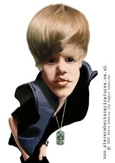 Steve Roberts' Caricatures.: Celebrity Caricature - Justin Bieber