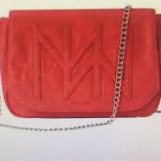 NWOT MICHE brand purse with chain strap. Beautiful NWOT MICHE brand purse red with chain strap! Siren hip bag. Others are selling on eBay in last photo! Miche Bags Crossbody Bags