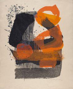 Yoshida Chizuko {Japanese, b.1924), Anticipation,1961. Woodblock print.