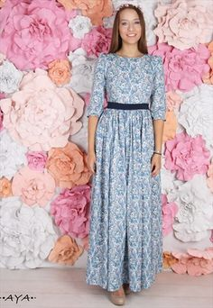 AN AMAZING MAXI COTTON DRESS