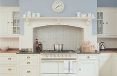 Incorporate your room's original features into your kitchen design. Here, a range cooker is set into the room's chimney breast to provide a focal point. Kitchen Mantle, Kitchen Chimney, Kitchen Decor, Kitchen Ideas, Kitchen Inspiration, Kitchen Layout, Rustic Kitchen, Interior Inspiration, Kitchen Cooker