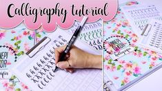 Calligraphy writing: In this tutorial video I will show you how to write calligraphy fonts for beginners. Calligraphy templates f. Calligraphy Templates, Calligraphy Tutorial, How To Write Calligraphy, Calligraphy Fonts, Adult Coloring Pages, Filofax, Playing Cards, Bullet Journal, Printables