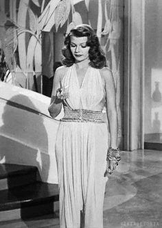 [Rita Hayworth in Gilda, 1946.]