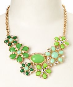 Love this Green Floral June Bib Necklace on #zulily by Simply Reese, $14 !!  #zulilyfinds